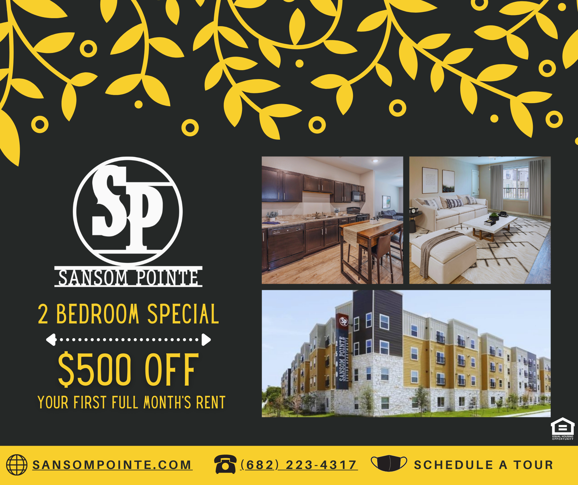 Special for $500 off a 2-bedroom